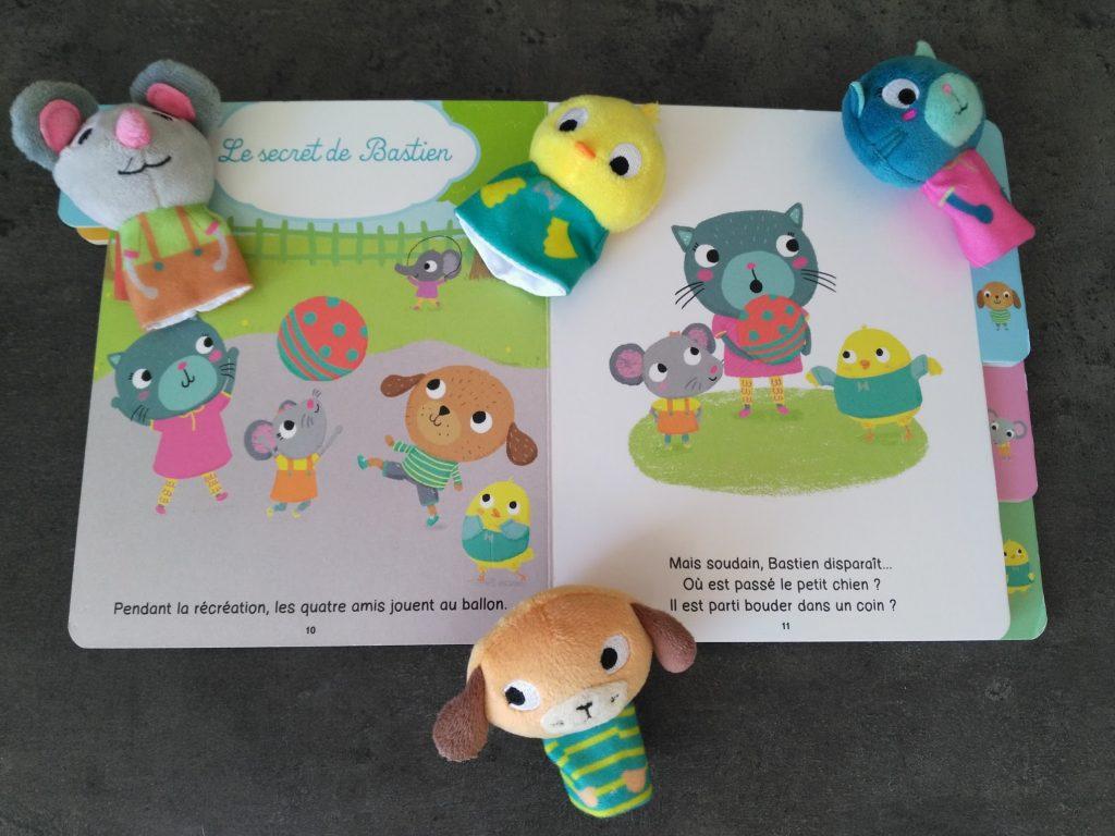 Mes histoires à raconter et à mimer de Bénédicte Rivière livre pour enfant avec marionnettes